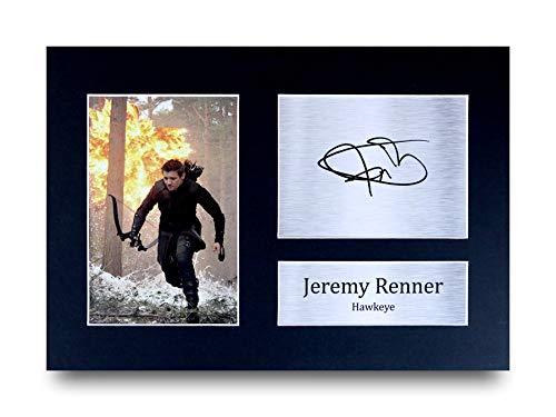HWC Trading Jeremy Renner A4 Ungerahmt Signiert Gedruckt Autogramme Bild Druck-Fotoanzeige Geschenk Für Hawkeye The Avengers Filmfans
