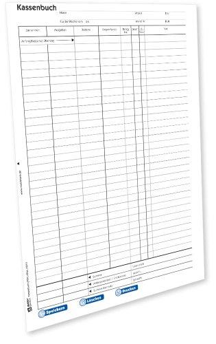 AVERY Zweckform 426e Kassenbuch (von Rechtsexperten geprüft, DATEV-gerechter Aufbau, nach Steuerschiene 300, auch für elektronische Registrierkassen geeignet) [PDF-Download]