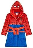 Marvel Robe De Chambre Polaire Enfant De Spiderman, Peignoir Garçon en Polaire avec Capuche pour Les Fans De Super Héros (Rouge, 8-9 Ans)