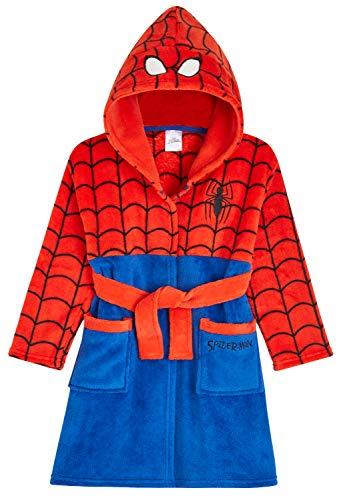 Marvel Bademantel für Jungen, Spiderman-Jungen-Morgenmantel, Fleece-Bademantel für Kinder Gr. 7-8 Jahre, rot