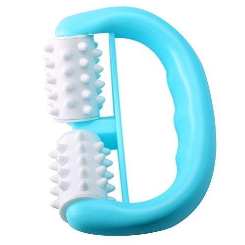 Rosenice type d Cellulite Masseur brosse de rouleau pour le corps utilisation humide ou sec avec crème straffende ou huile (Bleu)