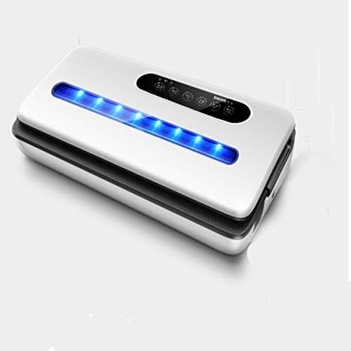 LSLY Vakuumierer Vakuumiergerät, Automatische EIN-Knopf-Lebensmittelkonservierungsmaschine (Mit Trocken- Und Nassfrischmodus) LED-Anzeigen (Weiß, Schwarz),Schwarz