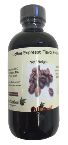OliveNation Coffee Espresso Flavor Fountain, Deep Coffee Flavor Water Soluble for Beverages, Ice Cream, Fillings, Soda - 4 ounces