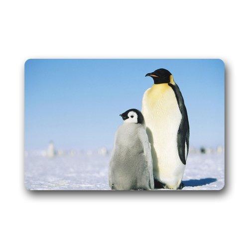 Doubee générique Penguin Paillasson Premium Tapis Tapis Anti-Poussière à la Maison Porte de Jardin rectangulaire 60 cm x 40 cm, Tissu, E, 23.6\