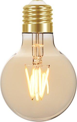 Lâmpada LED Filamento Vintage Globo E27, 4W, Ambar Taschibra G80 11080382