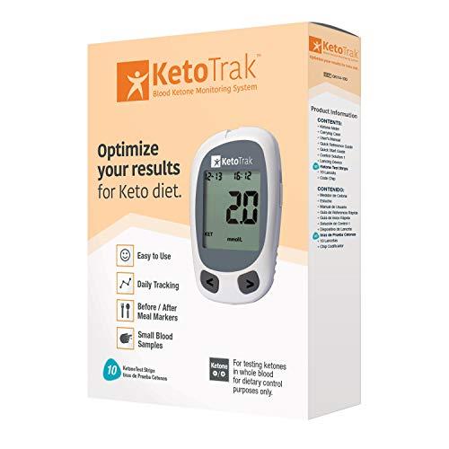 KetoTrak Blood Ketone Testing Kit, …