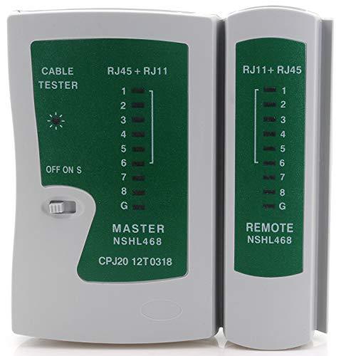 1aTTack.de Netzwerk Kabel Tester RJ45 RJ12 RJ11 Netzwerktester Master- und Remoteeinheit Netzwerktester RJ45 Netzwerkkabeltester Cat5 Cat5e Cat6 Cat7 Cat8 1 Stück
