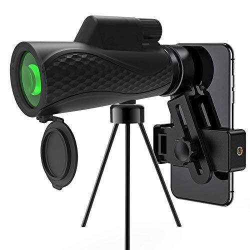 para observacin de aves, juego de pelota de concierto, telescopio monocular estelar 12X42 Ultra HD resistente al agua BAK4 Prisma Monocular mvil + soporte para telfono inteligente y trpode -