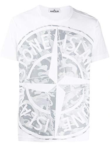 Luxury Fashion | Stone Island Heren 721523391V0093 Wit Katoen T-shirts | Lente-zomer 20