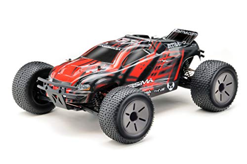 RC Auto kaufen Truggy Bild 2: Absima Hot Shot Absima 1:10 RC Modellauto AT3.4 Truggy mit Brushed Elektroantrieb und Allradantrieb als Bausatz, Rot, Grau, Schwarz*