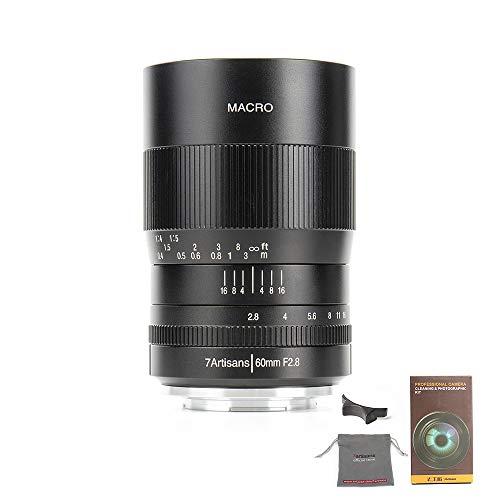 7Artians - Lente Macro F2.8 APS-C de 60 mm, Enfoque Manual, Lente Fija para cámaras Nikon sin Espejo con Montura en Z, con Llave de Ajuste de Enfoque, Bolsa para Lente, paño de Lente perergear