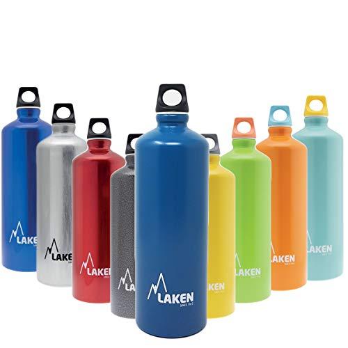 Laken Futura Alu Trinkflasche Schmale Öffnung Schraubdeckel mit Schlaufe 0.75L, Hellblau