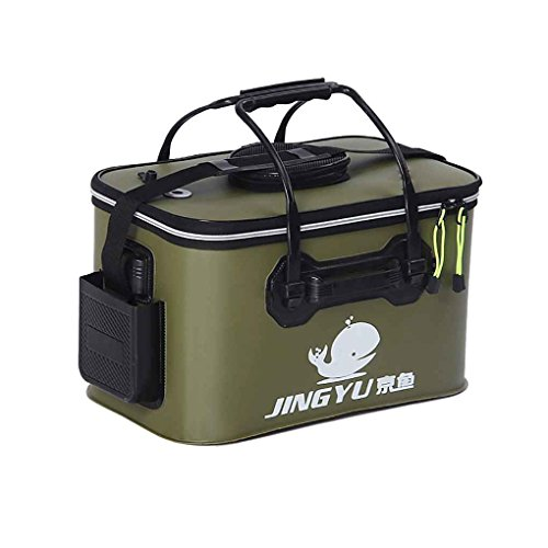 Mengonee Fishing Bucket Collapsible Water Container Portable Camping Hiking Car Wash Basin Bait Bucket Tackle Storage Bags Boxes