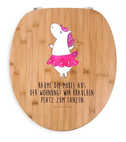 Mr. & Mrs. Panda WC-Sitz, Klodeckel, Motiv WC Sitz Einhorn Ballerina mit Spruch - Farbe Transparent
