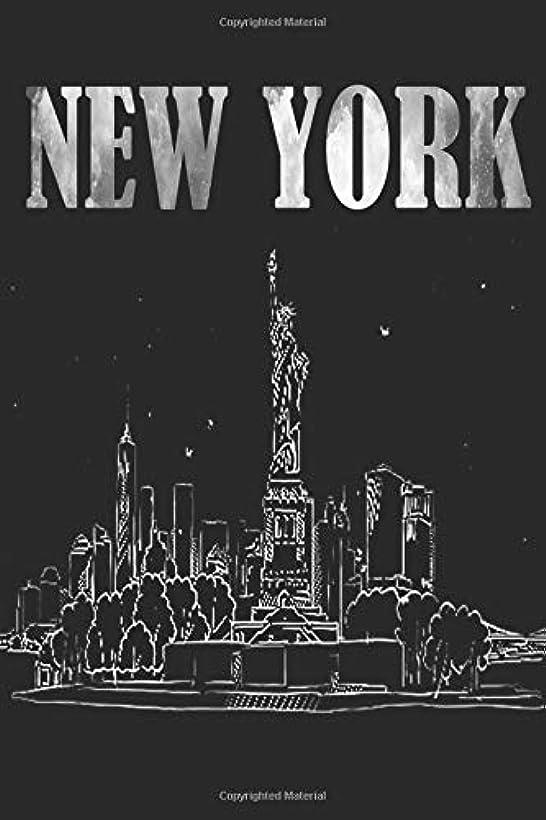 ブースト最初に請求書New York: New York Travel Notebook, Diary size 6x9