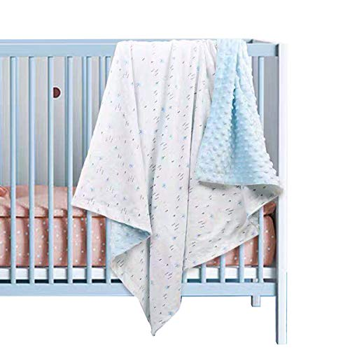 Eurobuy Babydecke 43. 3X29. 5 Zoll Neugeborene Weiche Decke Kleinkind Minky Dot Decke Kinderwagen Warme Empfangsdecke Geschenk für Säugling Und Kleinkind