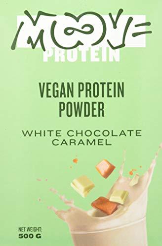 Moove Protein - Polvo de proteína vegana de arroz y guisantes - Sabor a chocolate blanco y caramelo - 500 g