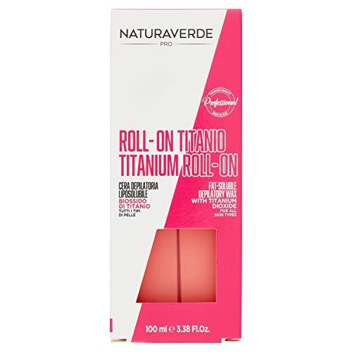 Naturaverde, cartuccia di cera con diossido di titanio per pelle secca e sensibile, confezione da 6 (6 x 100 ml)