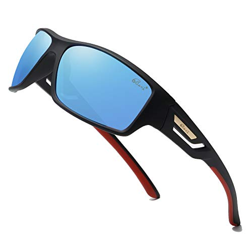 Bevi Polarized Sports Sunglasses TR90 Unbreakable Frame for Men Women Running Cycling Baseball...