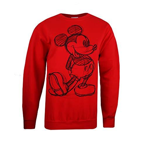 Disney Women's Mickey Mouse Sketch Sweatshirt