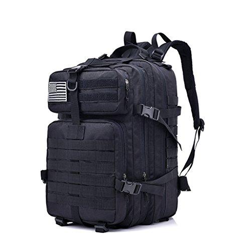 zyy 50 L 3 Day Assault Tactical Mochilas al Aire Libre Mochila Bolsa de Camping - Desert Digital (Color : Black)