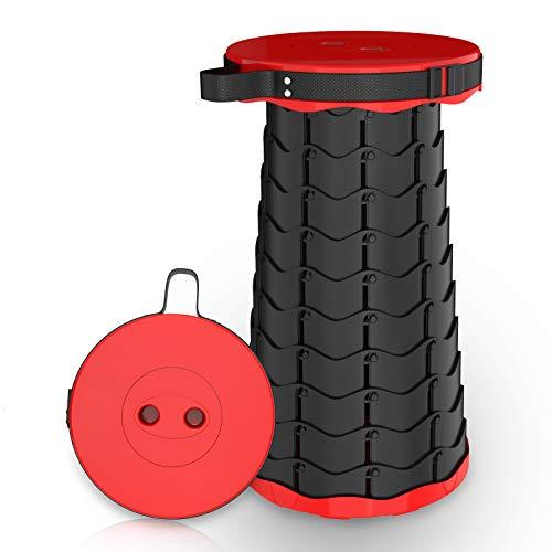 Klapphocker,1byone Tragbarer Teleskophocker für Outdoor,Campinghocker Höhenverstellbar Klappstuhl für Garten/Küche (Max.150 kg)