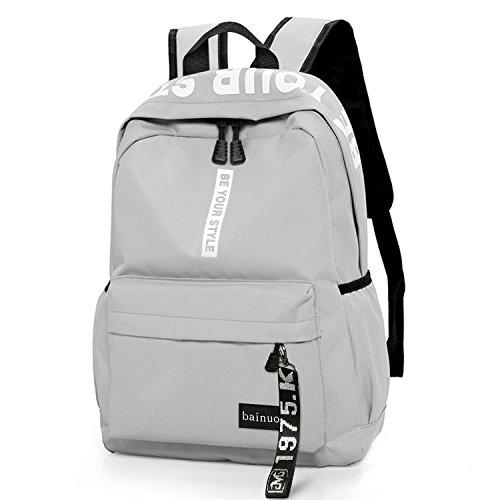 bainuote Schulrucksack Mädchen Teenager Schultaschen Jungen Schulranzen ergonomischer Schulrucksack Canvas Schulrucksäcke wasserdichte Daypacks Backpack für Schule, Arbeit, Freizeit