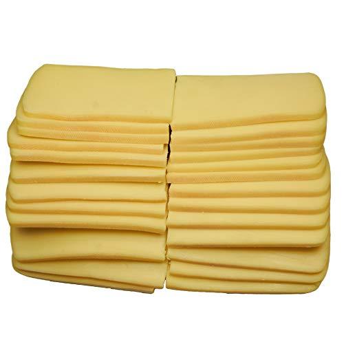 Food-United Raclette-Käse-Scheiben Schweizer Schnittkäse ca. 2 KG ca. 25 Scheiben je 80g zartschmelzend weichschnittig herzhaft würzig-mild mit essbarer Rinde laktosefrei