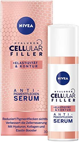 NIVEA Hyaluron Cellular Filler + Elastizität & Kontur Anti-Pigmentflecken Serum im 1er Pack (1 x 30 ml), hocheffektive Gesichtspflege reduziert Pigmentflecken, Serum für das Gesicht
