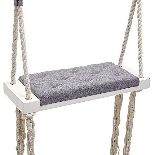 CCFCF Swing, Chaise de balançoire Suspendue en éponge, idéale pour intérieur/extérieur/Maison/Chambre à Coucher/Patio/terrasse/Jardin/Jardin,Gris