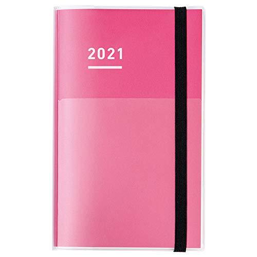 コクヨ ジブン手帳 ファーストキット 手帳 2021年 A5 スリム マンスリー&ウィークリー ピンク ニ-JF1P-21 2020年 11月始まりの写真