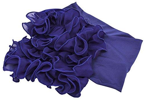 DFギャラリー アクセサリー ダンス衣装 ヘアバンド コサージュ 無地 フリル BB85066 ロイヤルブルー フリー