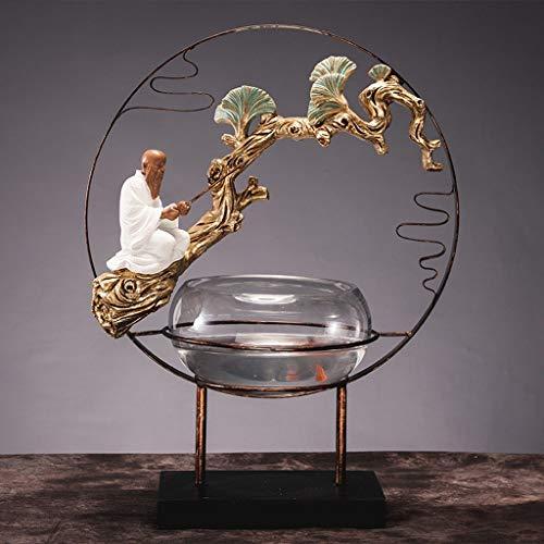 HandWerk Dekoration Zen Resin Sculpture House Arbeitszimmer Wohnzimmer Dekoriert Stücke von Umzug New Home Geschenk Retro Aquarium Große Weiche Ornamente