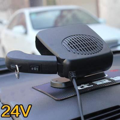 Hjiaqi - lovely Ventilador de refrigeración,12V Webasto Portátil Calentador de automóviles Descongelados Auxiliares Defogger Fan Anticongelante para Auto Home Boat Motor (Color Name : 24 V Black)