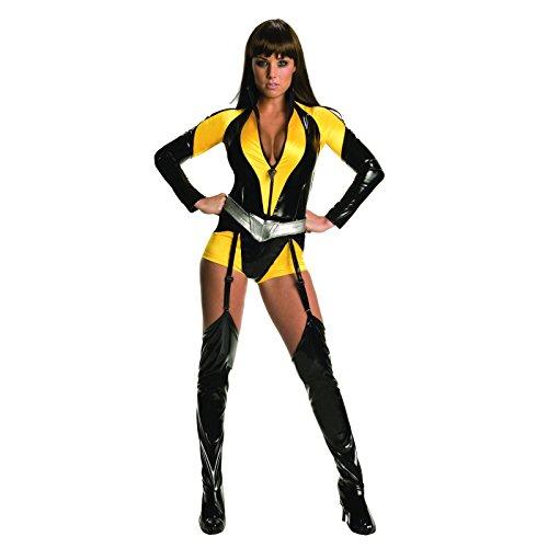 Watchmen Seda Spectre Traje Mujer 3 Piezas En general, Cinturón, Puños Negro Amarillo - XS
