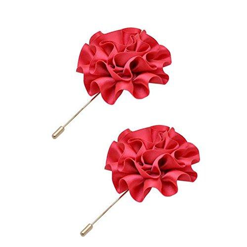 2PCS broches Broche Broches Broches élégantes décoration pour dames, Rose rouge