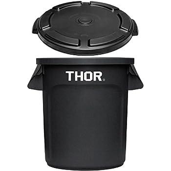 トラスト ソーラウンドコンテナ 38L Trust THOR Round Container [ ブラック/フタ付き ]