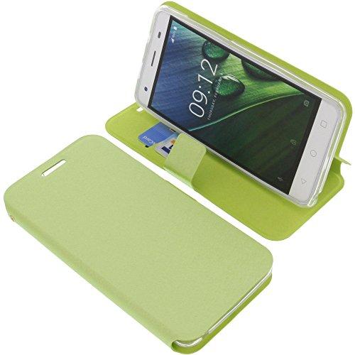 foto-kontor Tasche für Acer Liquid Z6E Book Style grün Schutz Hülle Buch