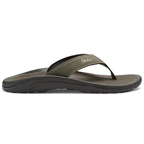 OLUKAI Men's Ohana Sandals, Kona/Kona, 8