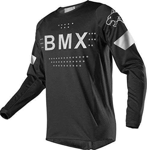 Wisdom Leaves Men's Mountain Bike Jersey Long Sleeve BMX Downhill Bike Shirts Breathable&Moisture-Wicking MTB Sportwear