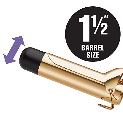 Hot Tools Professional 24K Gold Curling Iron/Wand, 1-1/2 inch