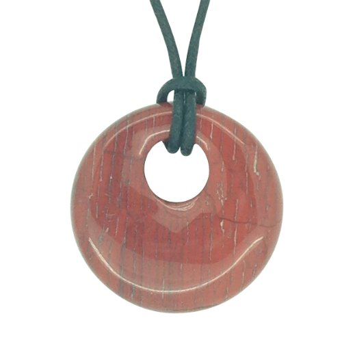 Luck Trader Glücksbringer Sternzeichen Waage Geburtsstein Halskette Edelstein Roter Jaspis