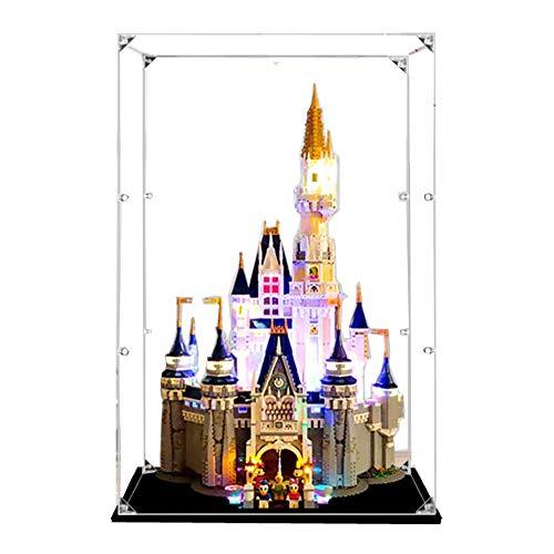JW-YZWJ Caja de visualización acrílica, Caja de visualización de protección contra el Polvo Compatible con Lego 71040 (Modelo de Juguete no Incluido)