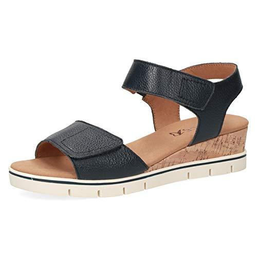 CAPRICE Sandalias de cuña para mujer, anchura: G (normal), color Negro, talla 37 EU