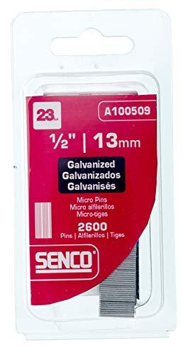 Senco A100509 23-Gauge x 1/2-Inch Electro Galvanized Headless Micropins