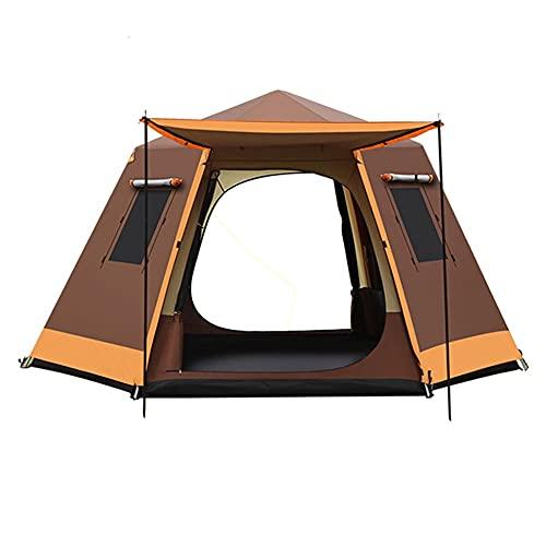 Carpa Emergente Automática, Carpa De Playa, Carpa De Campamento Plegable Portátil, Campamento Al Aire Libre Engrosado Para 4-5 Personas Tienda De CampañaTienda De Camping ( Color : Brown , Style : S )