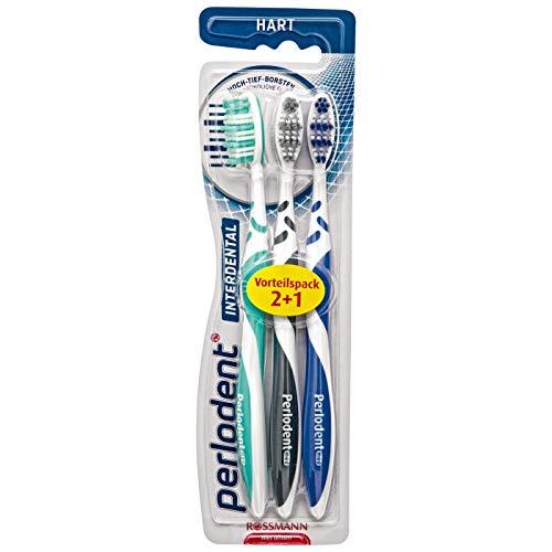 Prokudent/Perlodent interdental Zahnbürste hart 1 x 3 Stück sorgfältig abgerundete Borsten, Anti-Rutsch-Griff erhältlich in versch. Farben - nicht wählbar!