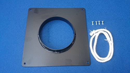 Chimney Sealing Collar Powder Coated Black (6 inch Flue Hole)