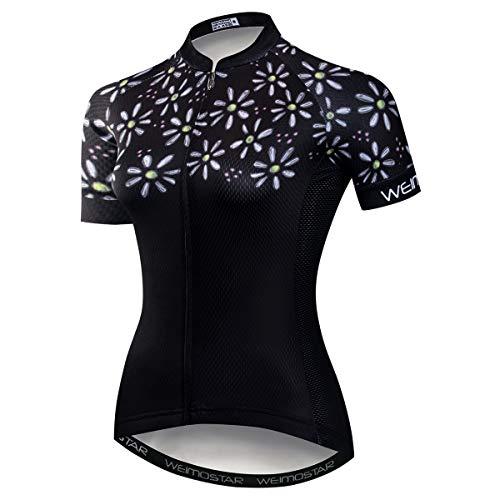 weimostar Damen Fahrradtrikot Sommer Kurzarm Fahrradtrikot Fahrradbekleidung MTB Biking Shirts Tops, Damen, CD5756, Chest30-32.3