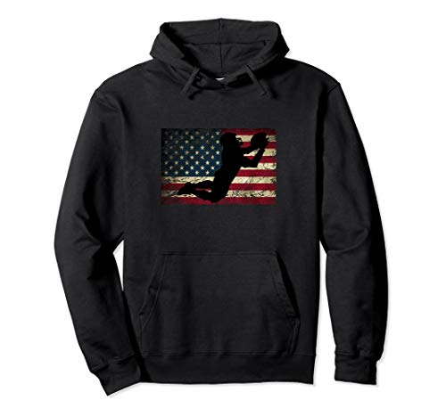 American Flag Football USA Flag College Football Gridiron Pullover Hoodie